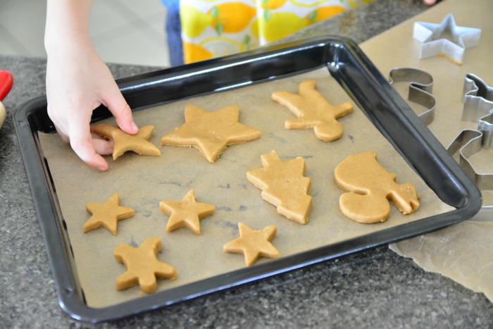 Otis baking at 5, gingerbread*