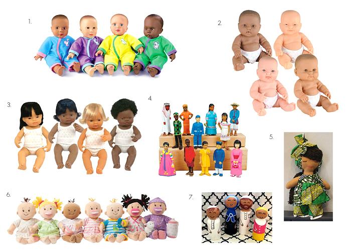 Multicultural Dolls at How we Montessori