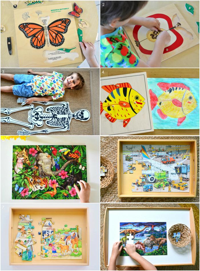 Montessori Puzzles for Four Year at How we Montessori