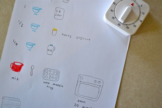 Hand drawn simple recipe at How we Montessori