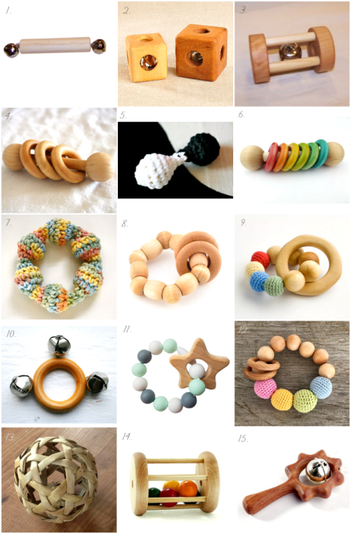 Montessori Rattles on Etsy - at How we Montessori