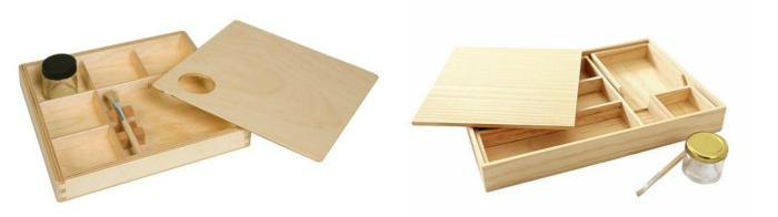Gluing Box Montessori High Low