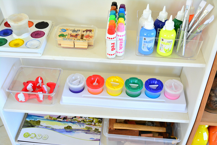 Refresh art shelves at How we Montessori