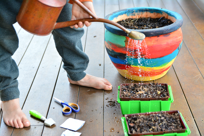 Otis watering  Montessori school fundraising ideas at How we Montessori