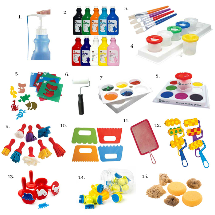 Materials for children who love to paint at How we Montessori