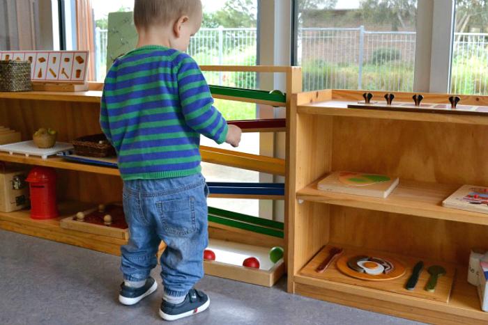 Otis will ball tracker at How we Montessori