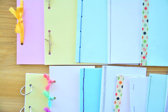 Child made books at How we Montessori