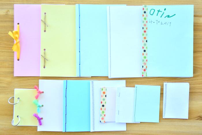 Child made books  hand binding at How we Montessori  practical life
