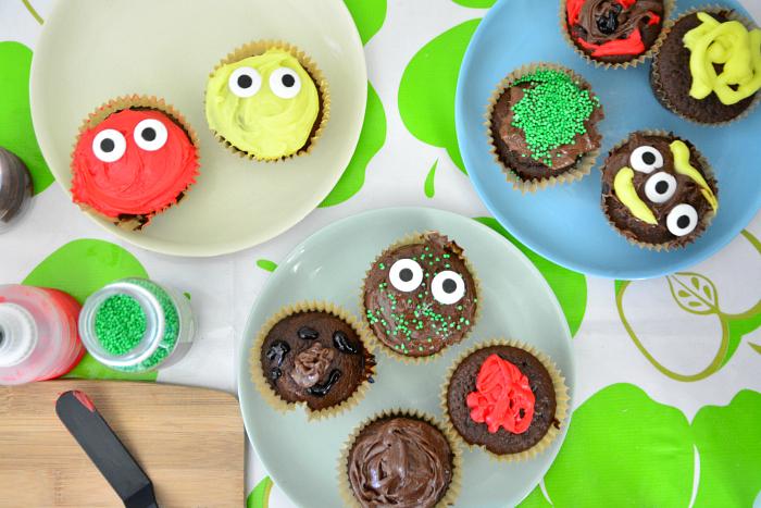 Otis decorating cupcakes at How we Montessori