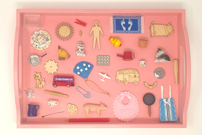 Pink Tray Objects at Montessori Enterprises