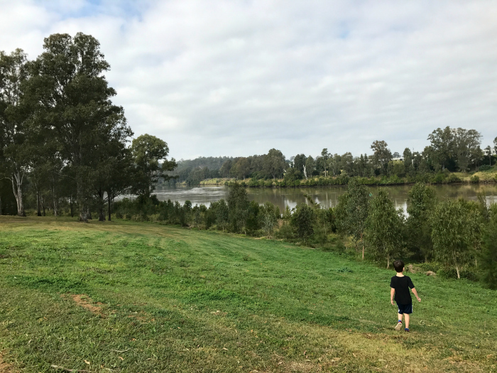 Brisbane River at HWM Walk before School