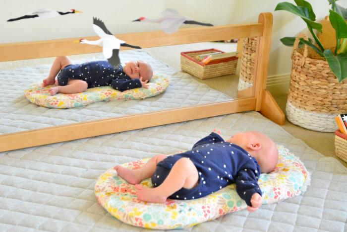 How we Montessori  Montessori wall mirror  Crane Mobile