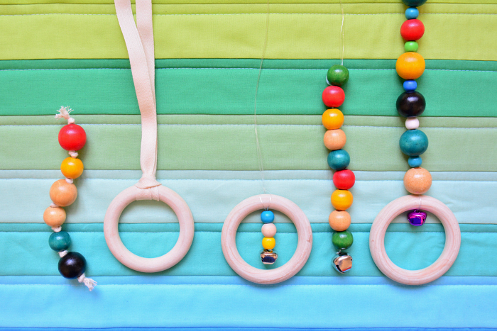Baby Toys with beads and wooden rings