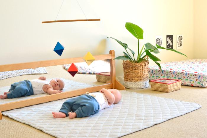 Otto's montessori room  with playgym