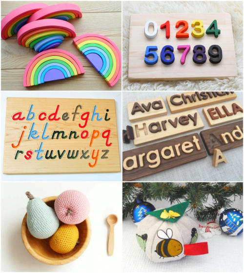 Montessori Gift Ideas on Etsy from How we Montessori