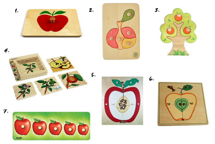 Apple puzzles for toddlers and preschoolers at How we Montessori
