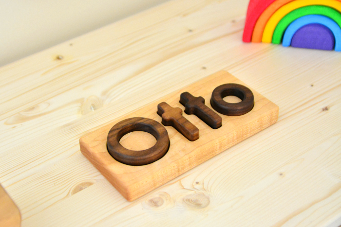 Otto wooden name puzzle