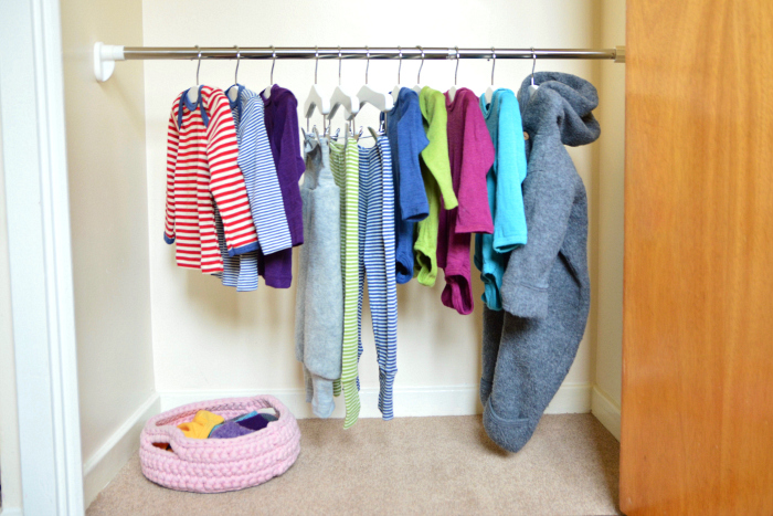 Montessori kids wardrobe at How we Montessori  five months