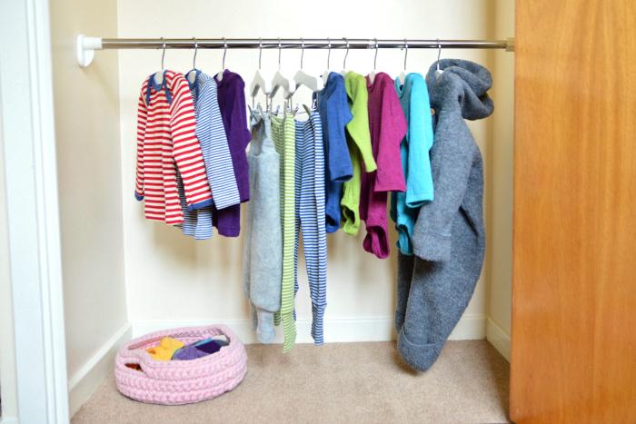 Montessori kids wardrobe at How we Montessori  five months