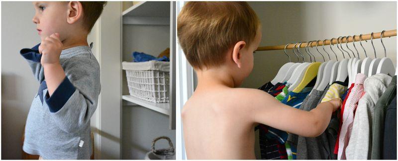Caspar's wardrobe