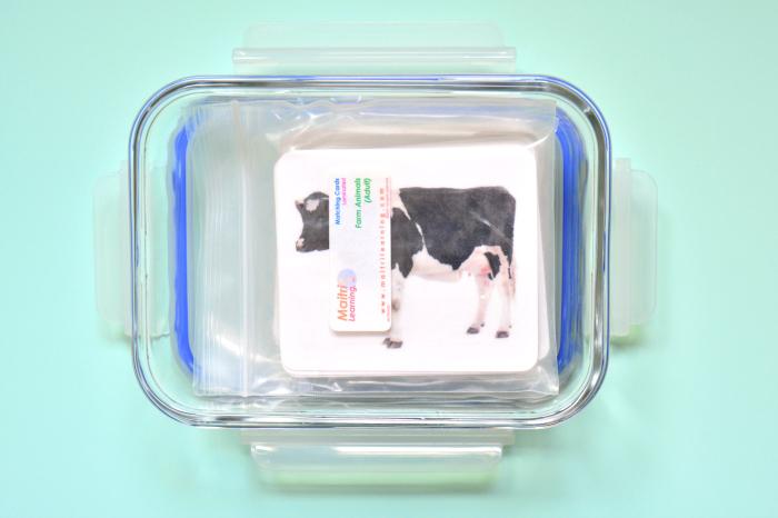 HWM Storing laminated cards in glasslock