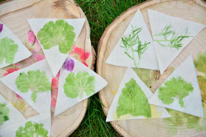 Hapa Zome at How we Montessori  Geranium leaves by Otis