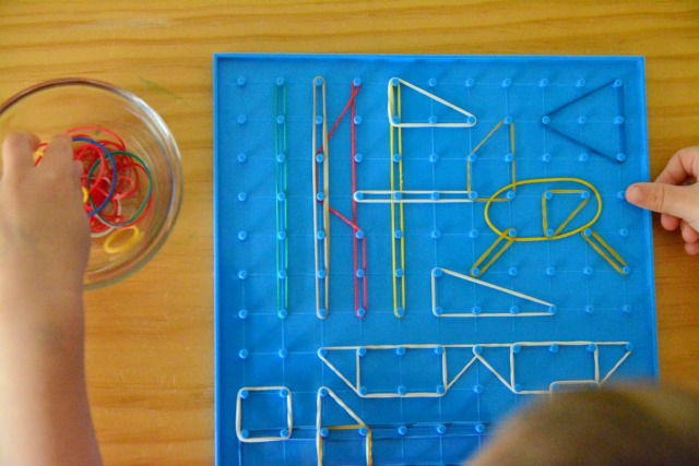 Otis with geoboard 3 yrs Oct 2014