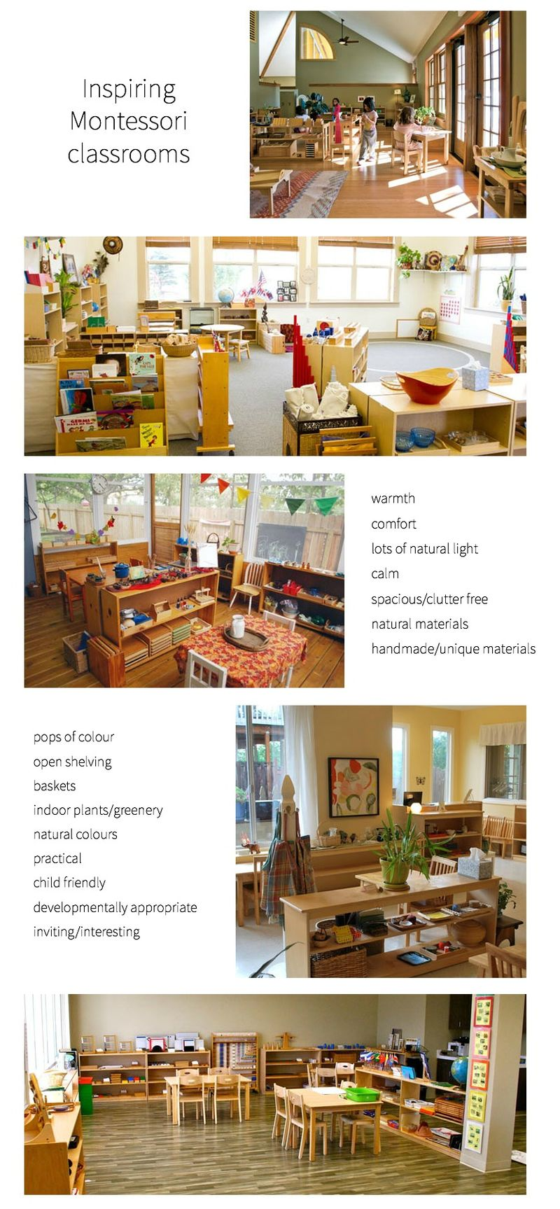 Inspiring Montessori Classrooms *