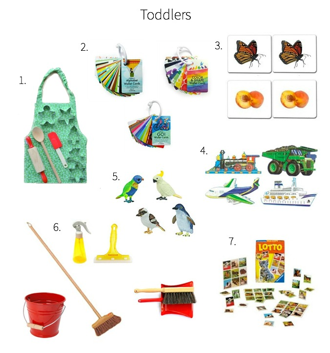 Montessori Gift Ideas Toddler 18 months to three years +