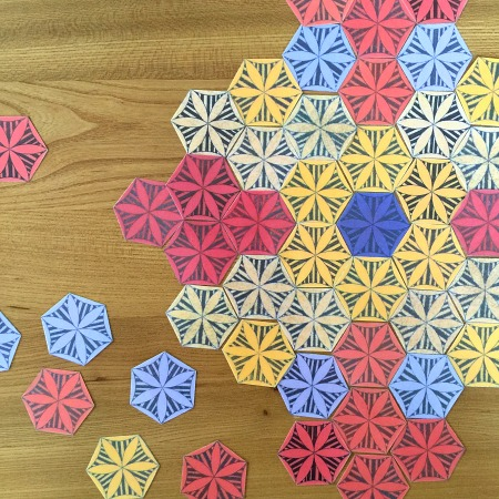 Working with numeracy, colour and patterns with printable mandala at how we montessori
