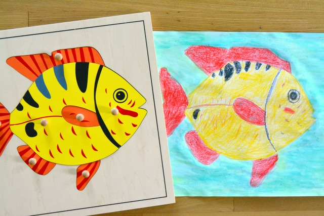 Fish Puzzle and Caspar's Drawing May 2015