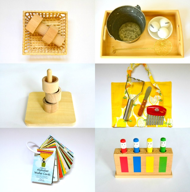 Montessori Child Toddler Activities at 12 months, one year old, Montessori  at home,