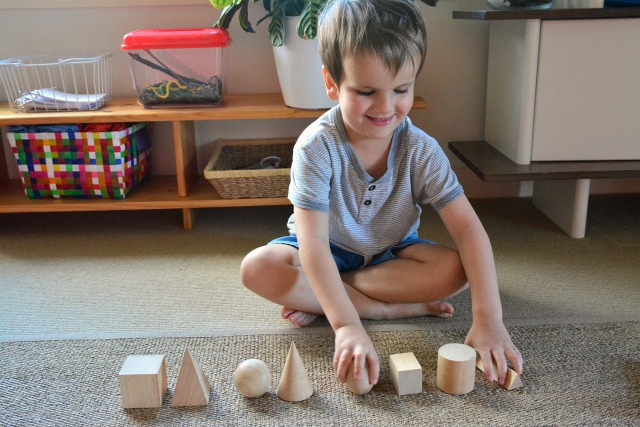 Missing Object Game - child hiding object at How we Montessori June 2015
