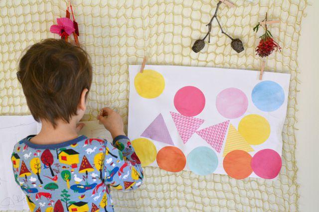 Hanging Children's Art at How we Montessori