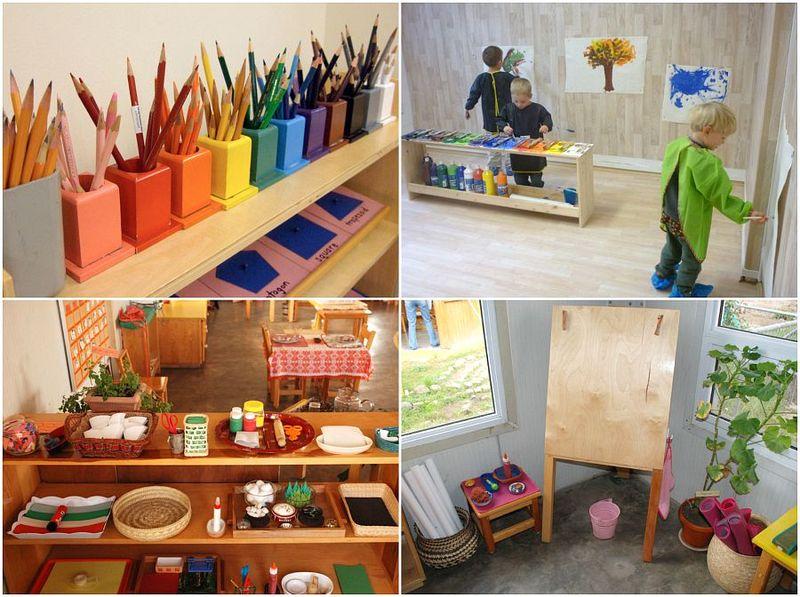 Amazing Montessori School Art Environments