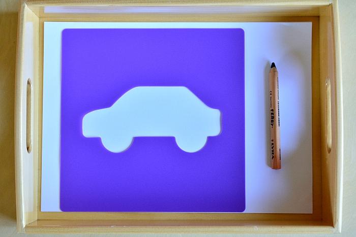 Otis' car stencil
