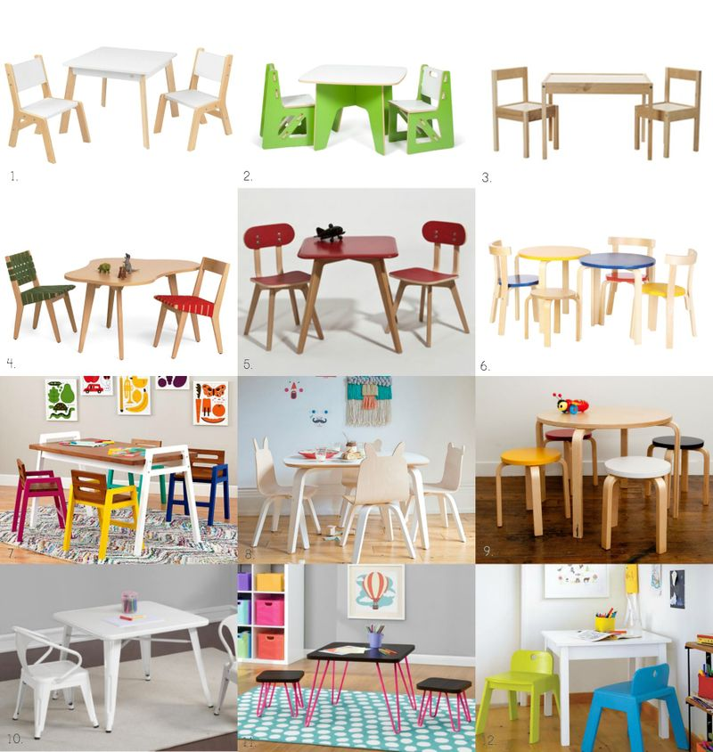Fun Children's Table and Chairs at How we Montessori copy