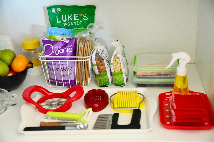 What's on our kitchen shelves at How we Montessori August
