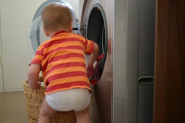 Load the washing machine