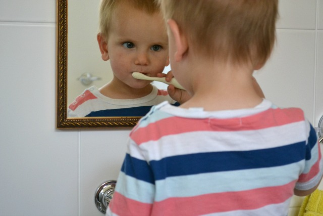 Learning to brush teeth
