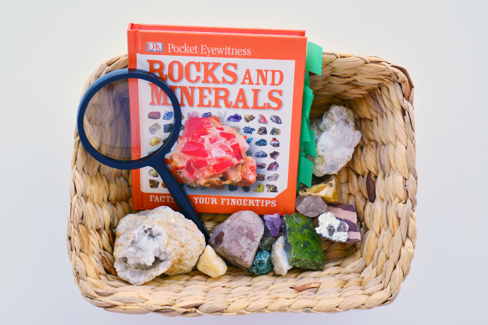 Rocks and Minerals Tray at How we Montessori