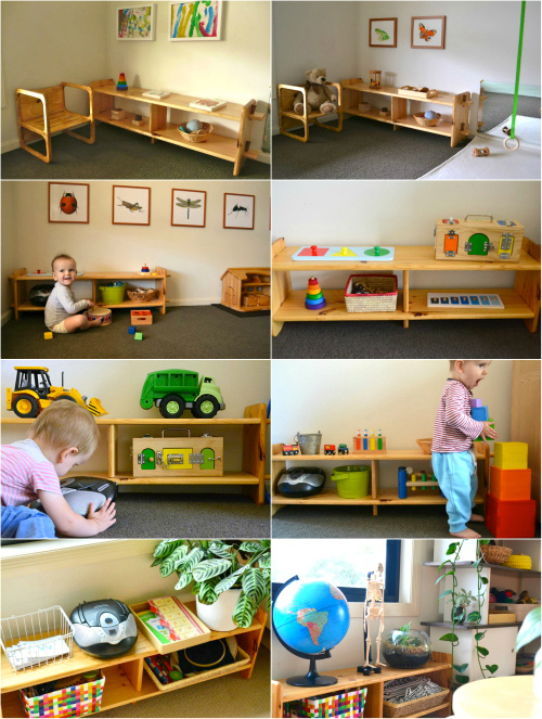 Low Montessori Shelves at How we Montessori