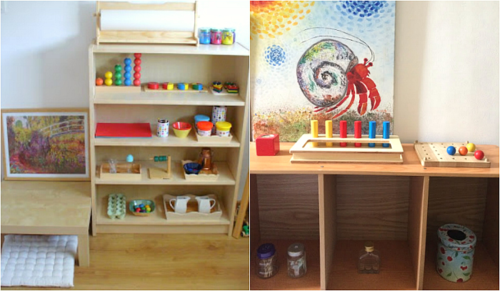 Montessori Toddler Shelves to Love at How we Montessori