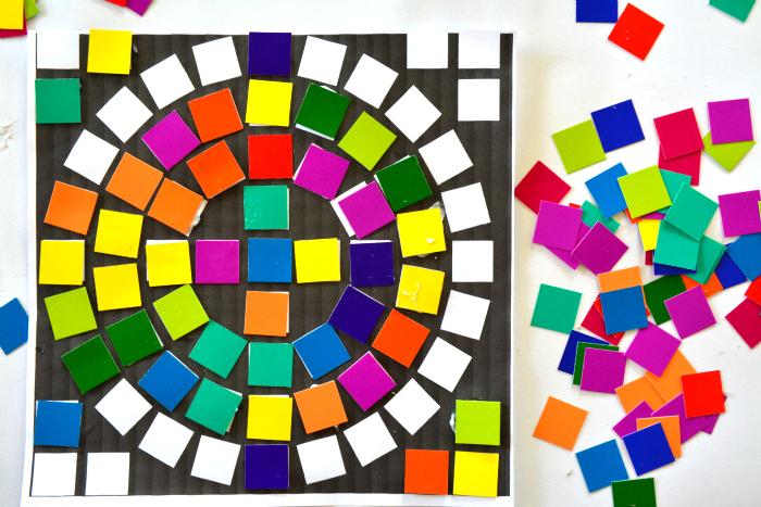 Spectrum Mosaics at How we Montessori