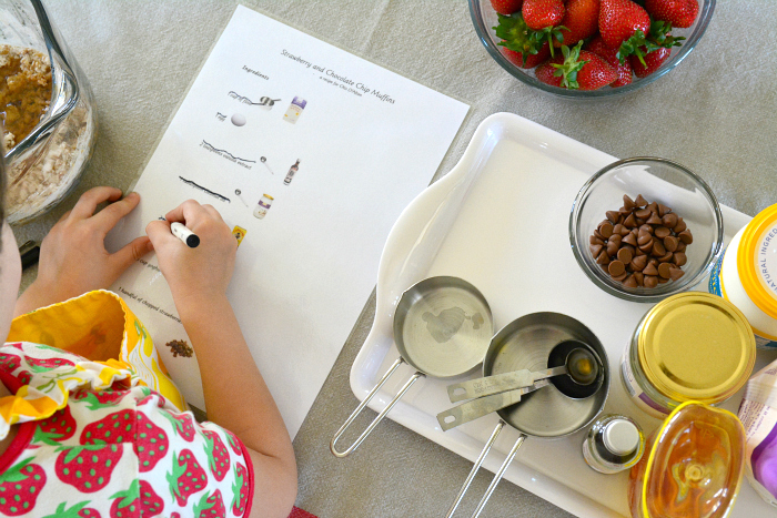 Independent baking at How we Montessori - illustrated recipe