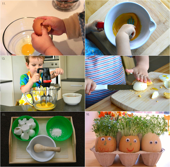 More Montessori Activities to do with Eggs