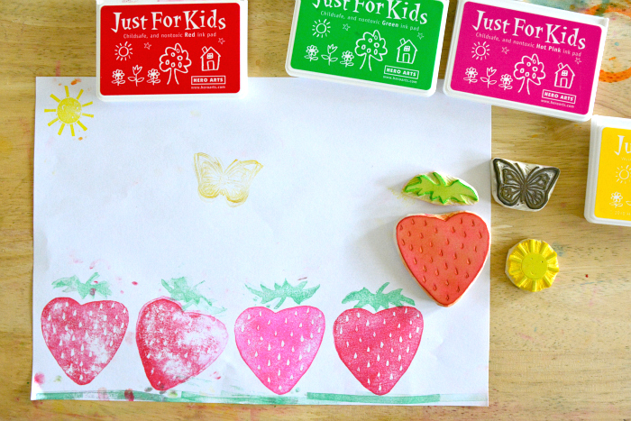 Hand made stamps at How we Montessori