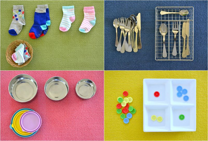 Easy Toddler Montessori Matching Activities at How we Montessori