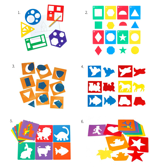 First Stencils for Hand Control at How we Montessori