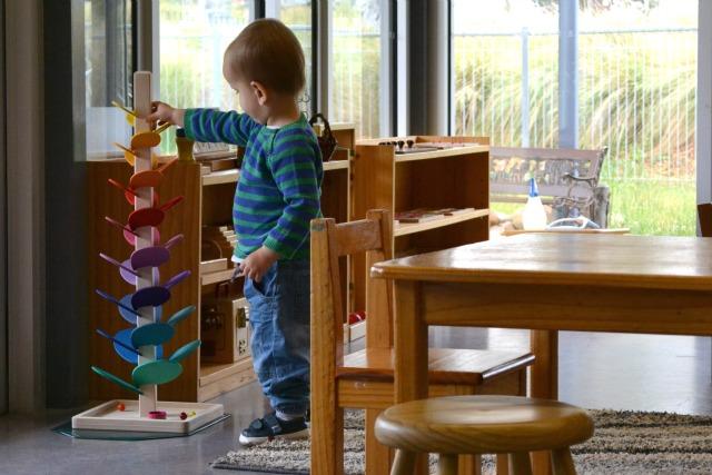 Otis at parent toddler class Canberra Montessori